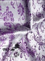 High-End Purple Floral Jacquard Silk Fabric