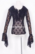 Black Net Gothic Lolita Blouse