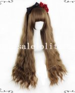 Natural Brown 75cm Long Curly Hair Sweet Lolita Wig