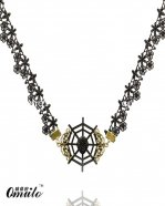 Gothic Vintage Fashion Gem Pendant Lace Necklace