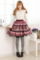 Lolita Cute Princess Alice Print Kawaii Skirt