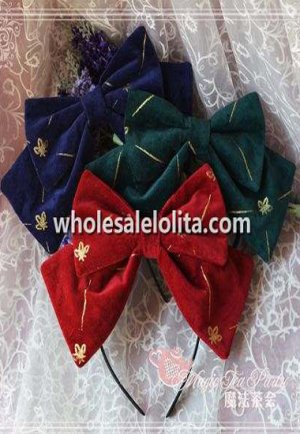 Love Story Series Velveteen KC Big Bow Lolita Headband