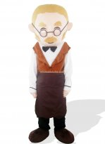 Aged Shoemaker Adult Plush Mascot Costume