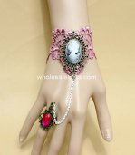 New Victorian Beauty Image Retro Lace Plum Bracelet & Ring