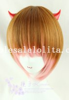 Harajuku New Fashion Mix-colored BOBO Cosplay Straight Hair Short Wig