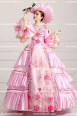 TOP SALE PINK Rococo Style Marie Antoinette Inspired Prom Dress Wedding Ball Gown