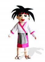 Adult Japanese Boy Mascot Costume