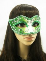 Charming Shinning Green Masquerade Ball Mask
