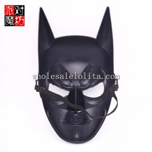 Black Cosplay Hallowen Bat Masquerade Mask in Red and White Color
