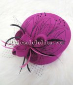 British Wool Flower Feather Stewardess Cap