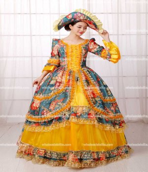 Luxury Marie Antoinette Inspired Prom Dress Quinceanera Ball Gown/Event Gown