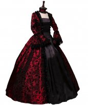 Victorian Gothic Georgian Period Dress Halloween Masquerade Ball Gown Reenactment Clothing