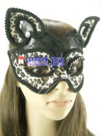 Black Lace Leopard Mask