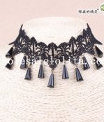 Popular Vintage Gothic Black Lace Collar Choker Pendant Necklace