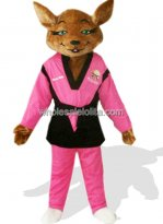 Pink Plush Adult Fox Mascot Costume