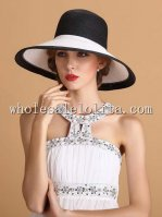 2014 Unique Two Tones Paper Straw Wide Birm Ladies Sun Hat