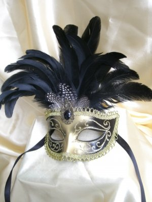 Hand-painted Mardi Gras Masquerade Mask