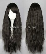 Hot Selling Japanese Lolita Black Noodles Roll Wig