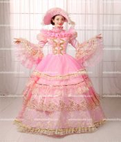 18th Century Rococo Style Marie Antoinette Inspired Prom Dress/Period Dresses