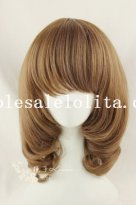 Japanese Cosplay Short Curly Blonde Lolita Wig