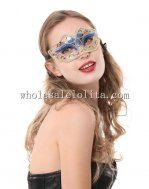 Colorful Glitter Carnival Venetian Masquerade Half Face Mask with Braiding