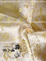 High-End Gold Floral Jacquard Silk Fabric