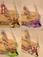 Beautiful Half Face Carnival Masquerade Mask with Glitter Rabbit Ear