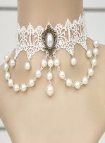 Gothic White Jewellery Lolita Necklace MTM59