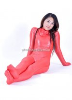Full Body Rose Shiny Metalic Zentai Suits