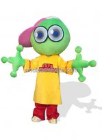 Green Plush Adult Frog Costume with Big Head