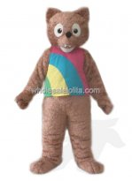 Brown Plush Wolf Mascot Costume