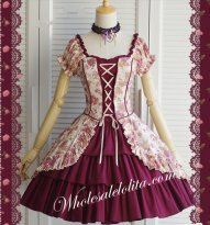 Palace Style Violet Flower Printing Classci Lolita Dress