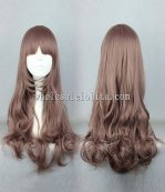 Harajuku Cosplay Lolita Wigs Fashion Bang Long Curly Hair