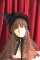 Deep Purple Victorian Era Bonnet Gothic Lolita Headdress