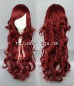 Cosplay Harajuku Lolita Wig Dark Red Long Curly Hair