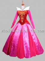 Disney Cosplay Sleeping Beauty Princess Aurora Adult Stage Costume Dress
