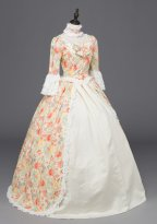 Printing Colonial Renaissance Period Victorian Dress Ball Gown Theatre Costume