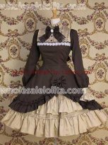 Gothic Punk Cotton Two-Piece Lolita Dress Costumes