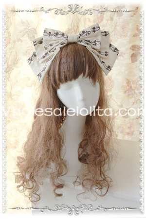 Brown Cinderella Lolita HeadBow Luxury Embroidery KC