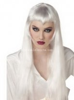Silver White Fancy Dress Costume Party Devil Cosplay Wig