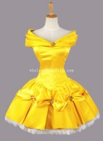 Disney Beauty and the Beast Princess Belle Cosplay Costume Mini Dress