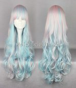 New Cosplay Harajuku Lolita Wigs Color Mixing Long Curly Hair