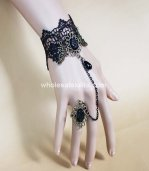 Gothic Punk Black Lace Ladies Bracelet/Wrist Strap
