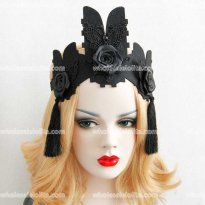Vintage Party Headwear Gotic Queen's Crown Headdresses