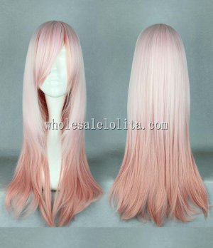 Fashion Lolita Wigs Multicolor Gradient Long Straight Hair