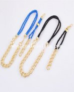 Fashion Blue/Black Gold Necklace and Bracelet Wedding Accessory Gift
