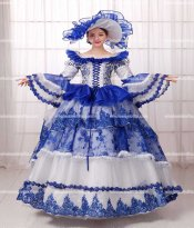 18th Century Rococo Style Marie Antoinette Inspired Prom Dress/Blue Elegant Dresses