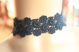 Gothic Goddess Embroidery Lace Lolita Necklace