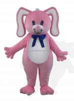 Pink Rabbit With Floral Ears Bunny Costume