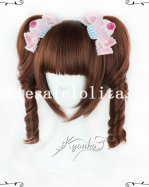 New Fashion Lolita Cosplay Short Curly Hair Heat Resistant Wig